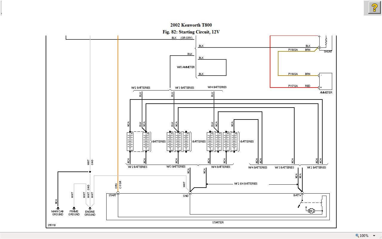 2002 Kenworth W900 Fuse Box Diagram