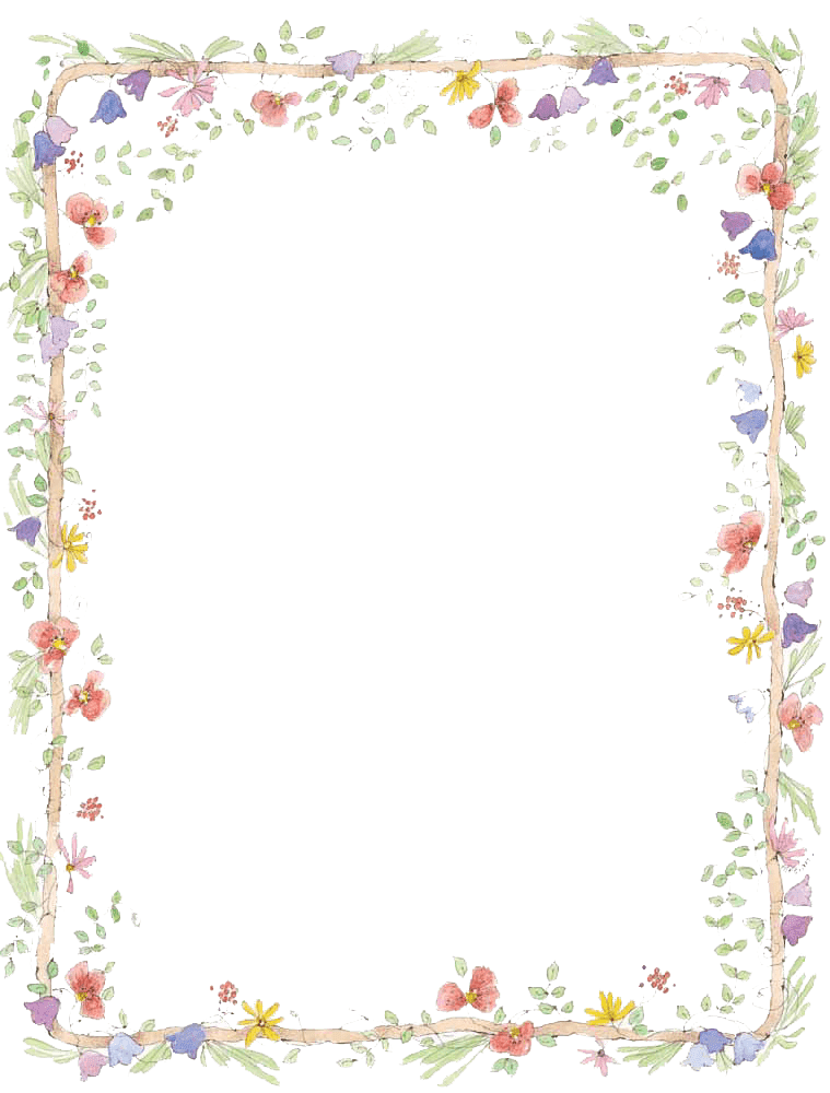 Flowers Frame Png Images