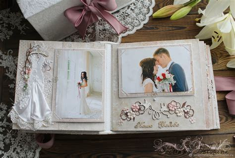 Wedding album Spring tenderness gift white pink ? shop