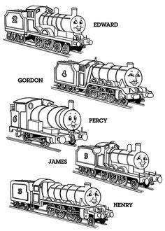Free Thomas The Tank Engine, Percy and Belle Printables
