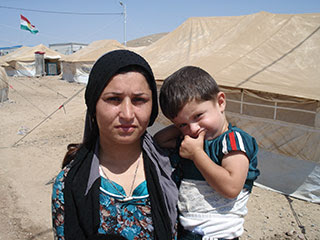 Syrian mother and son