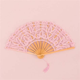 Vintage Pink Lace Hand Fan   Confetti.co.uk