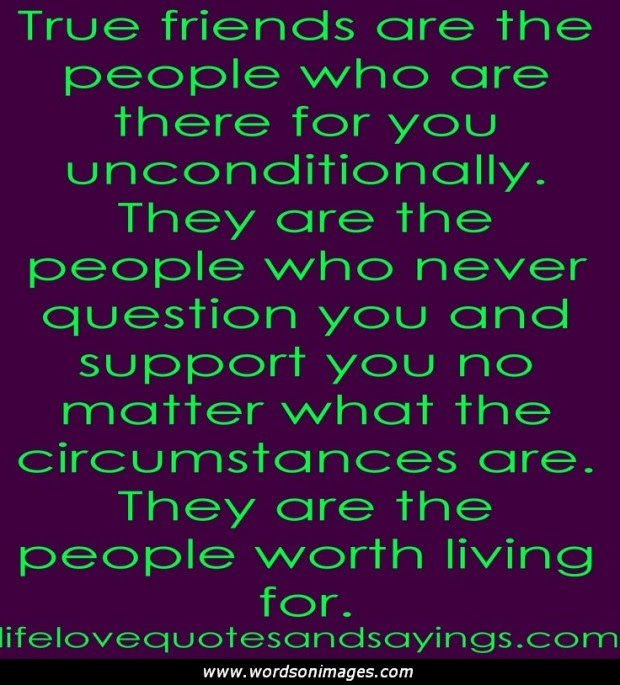 Friendship Love Quotes Inspirational Quotes About Unconditional