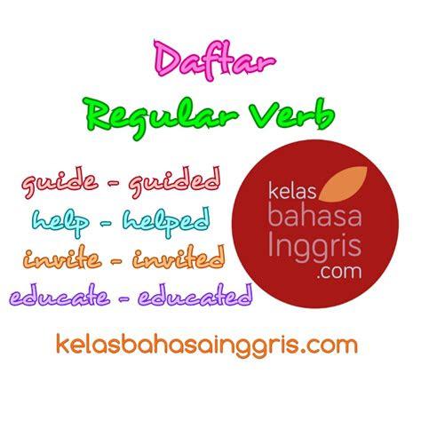 daftar lengkap regular verb beserta artinya