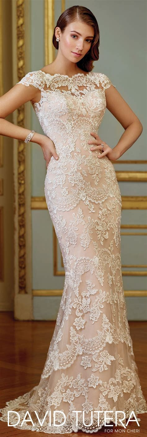 Vintage Embroidered Lace Fit & Flare Wedding Dress  117291