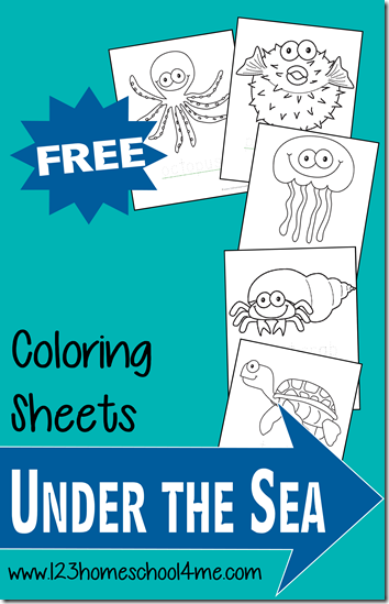 FREE Ocean Animals Coloring Pages | Free Homeschool Deals
