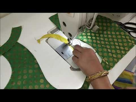 Very easy simple and beautiful patch work blouse design cutting and stit...