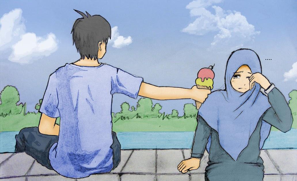 23+ Koleksi Istimewa Gambar Pasangan Sweet Couple Kartun