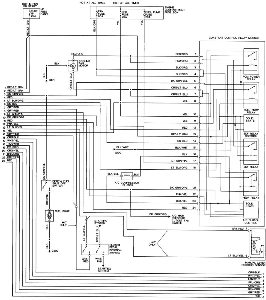 94 Mustang Fuel System Wiring Schematic 6 Way Trailer Wiring Diagram Commercial Wiring Diagram Schematics