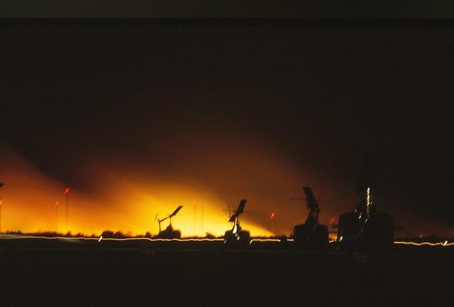 Saigon 1964 - Tan Son Nhut - Fuel dump mortared by the VC - 9pm the next night