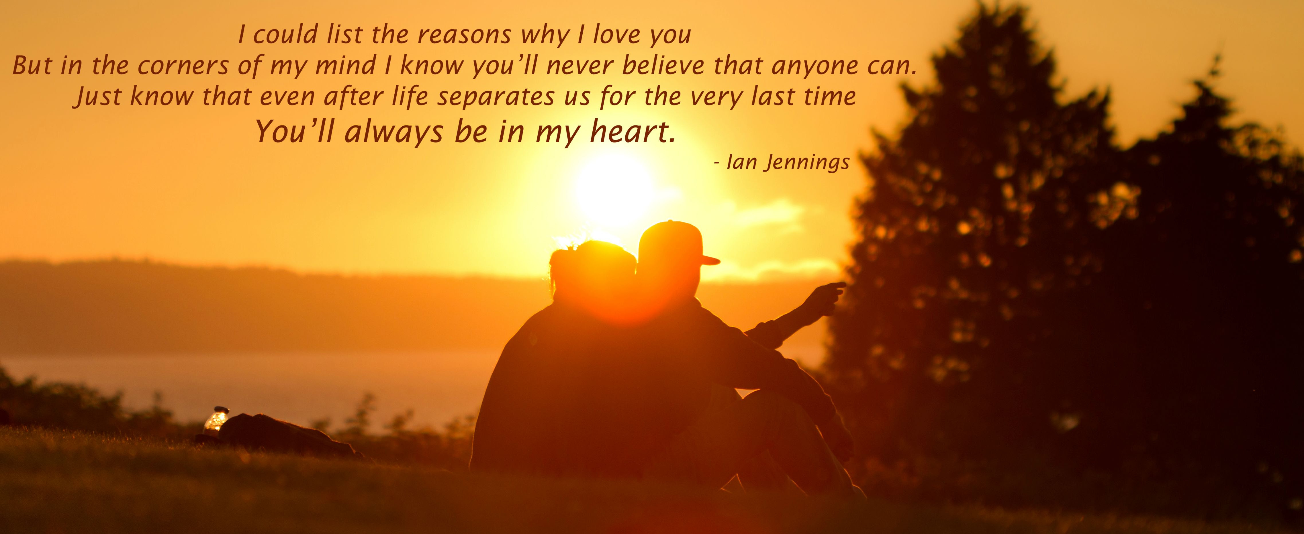 I Could List The Reasons Why I Love You Ian Jennings