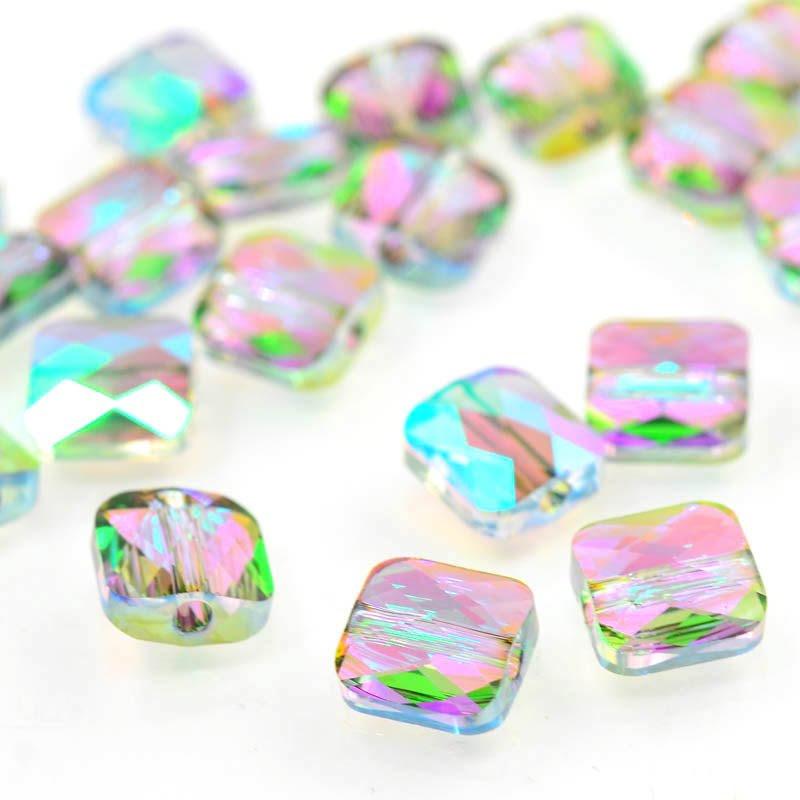 27750530066007 Swarovski Bead - 8 mm Mini-Square (5053) - Crystal Paradise Shine (1)