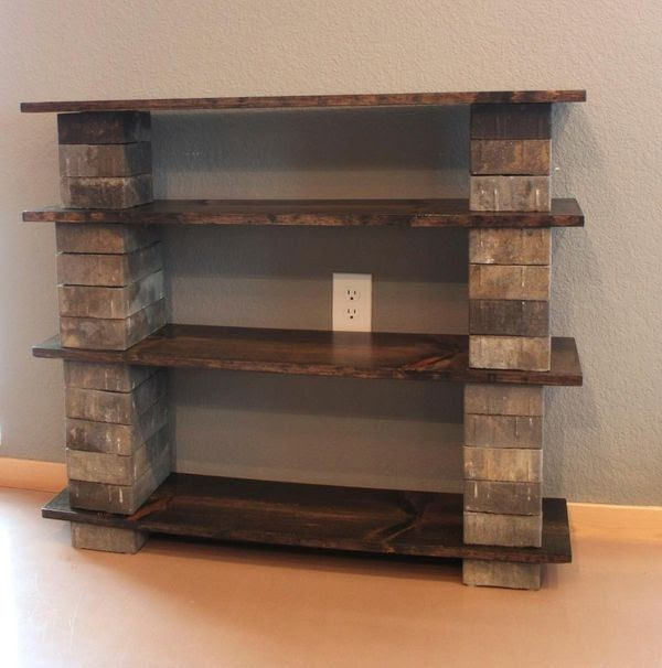 Make your own diy bookshelf out of concrete blocks and ...