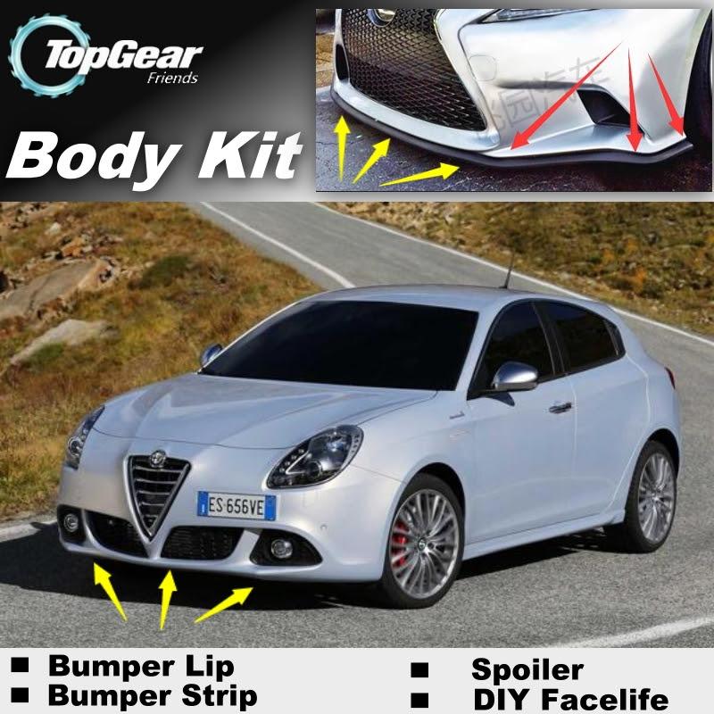 Bumper Lip Deflector Lips For Alfa Romeo Giulietta 940 AR Front Spoiler Skirt For TOPGEAR