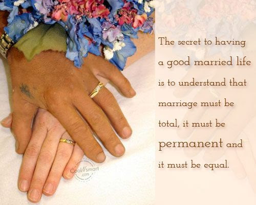 Elegant Good Married Life Quotes