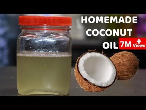 ताज़ा नारियल से घर मे नारियल का तेल बनाने का आसान तरीका |How to make