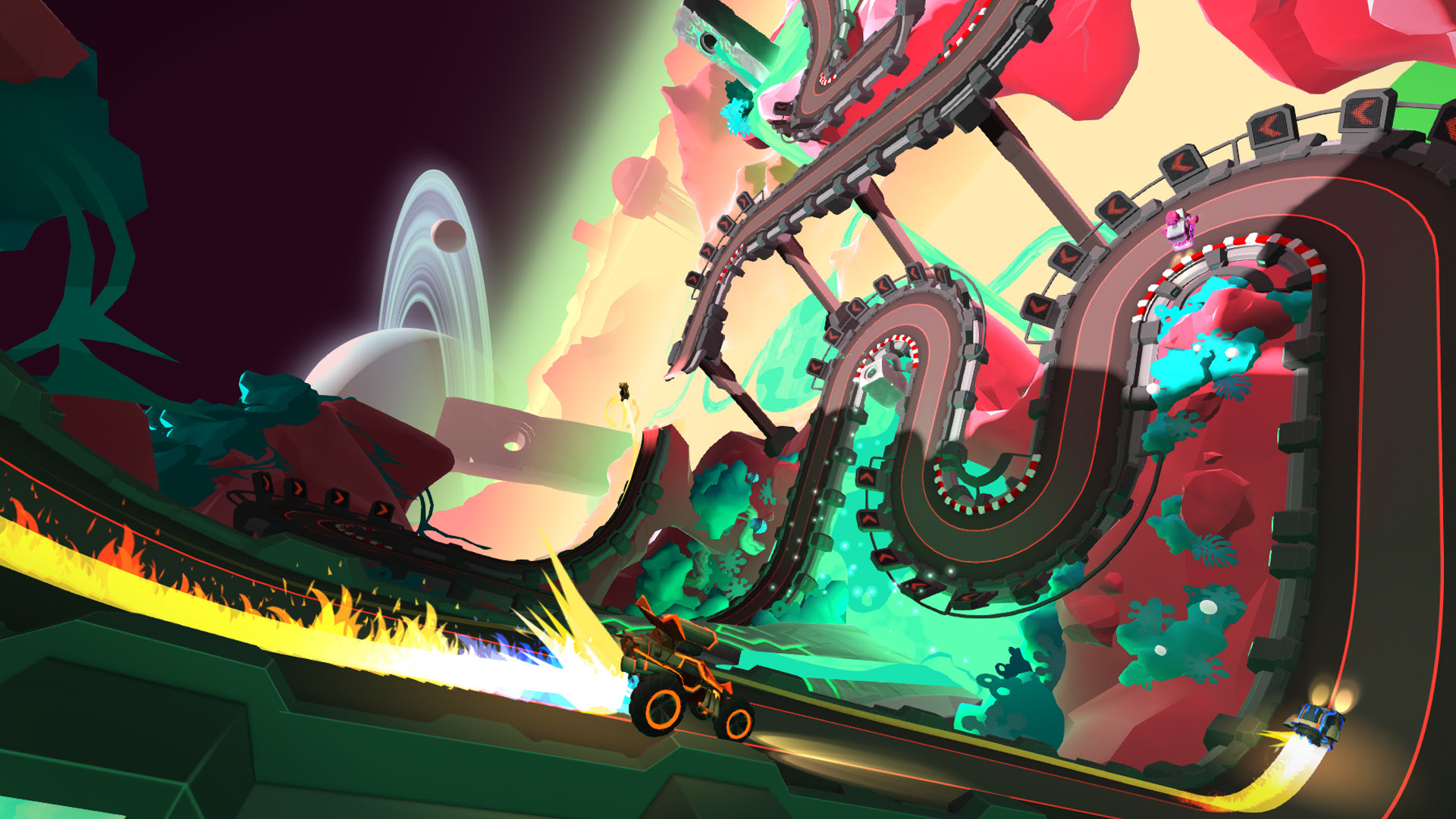 Tiny Trax is a slot racer for PlayStation VR screenshot