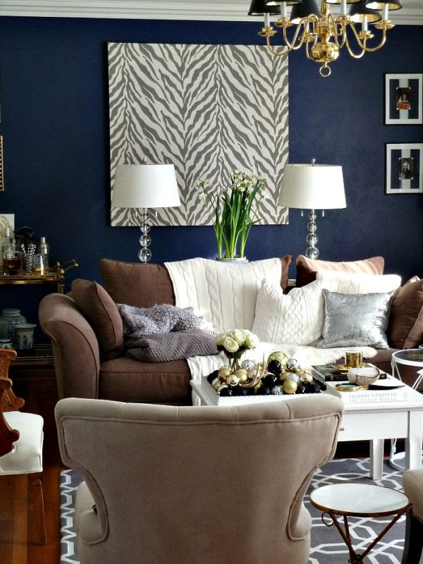 Decorating In Blue And Brown Living Room
