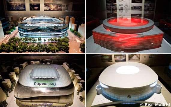 Maqueta posible nuevo Estadio Santiago Bernabéu