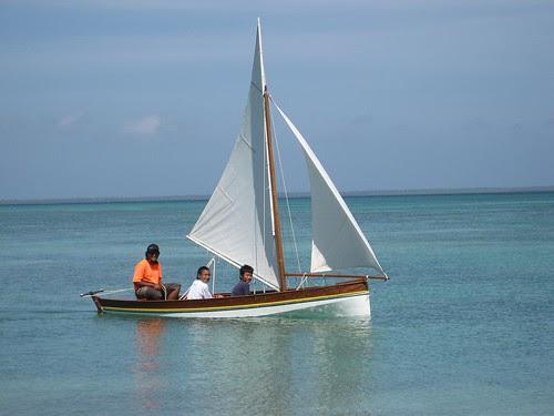 Cocos sailing boat