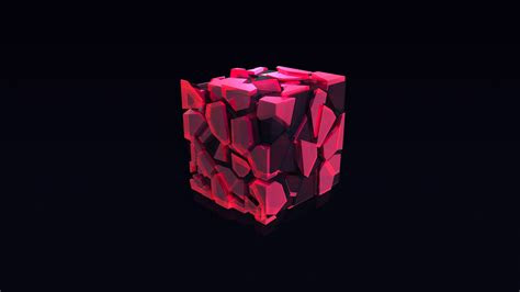 wallpaper cube  pink hd abstract