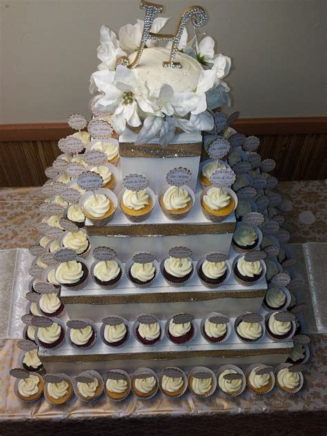 Gold Cupcake Tower. Jusalpha 3 Tier Strong Acrylic Square