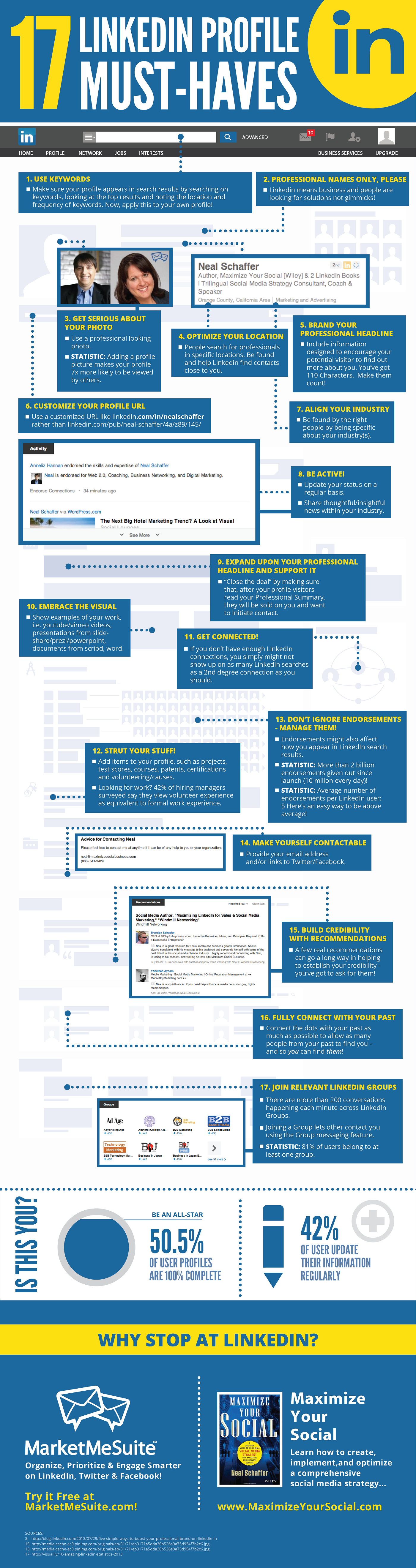 17 Must-Haves for Your #LinkedIn Profile - #infographic
