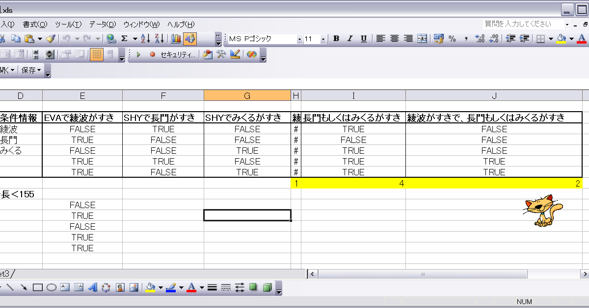[Excel][VBA]COUNTIF関数を複数条件で使うには? - I.D.E.A.