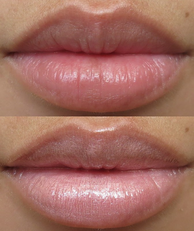 MAC Bait Lipglass Lip Swatch
