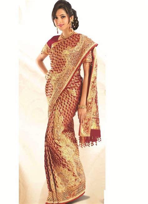 Maroon Embroidered Kanchipuram Silk Saree   hindu ceremony