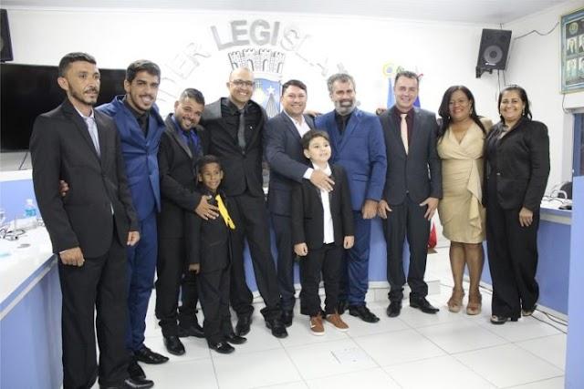 Prefeito Cézar Rotondano e o vice-prefeito Marcos tomaram posse em Milagres