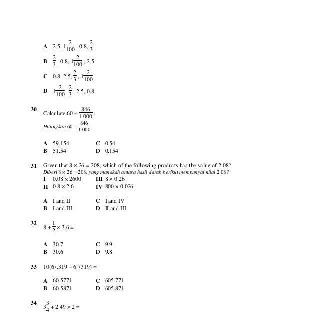 Jawapan Matematik Tingkatan 1 - Contoh Ert