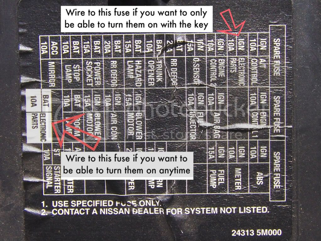 Wiring Diagram Source: 2008 Nissan Maxima Fuse Box Diagram on