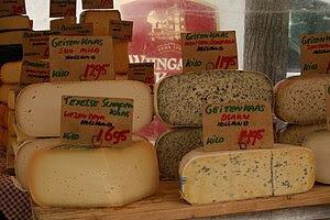 Español: Mercados de quesos en Holanda