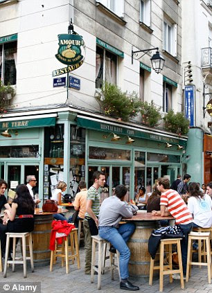 Cafe scene, Nantes