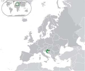 Location of ( green ) on the European continen...