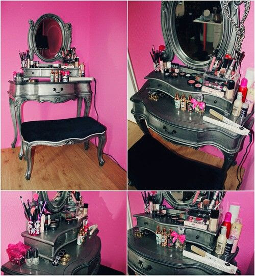 The vanity-not the pink walls lol