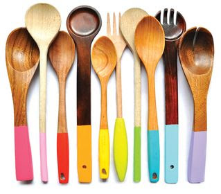 Love these dip dyed utensils for entertaining-design addict mom