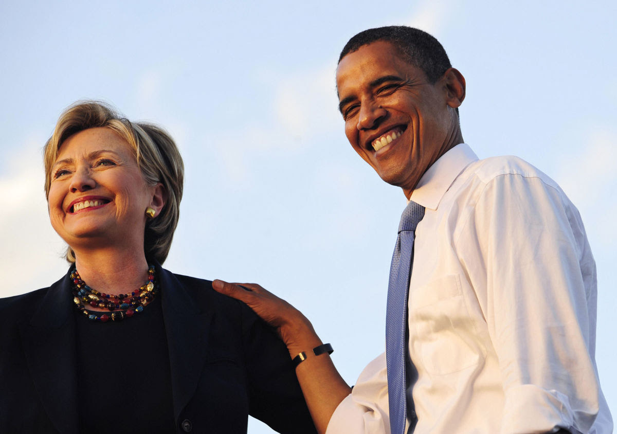 Image result for obama hillary