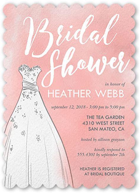 Watercolor Dress 5x7 Bridal Shower Invitations   Shutterfly