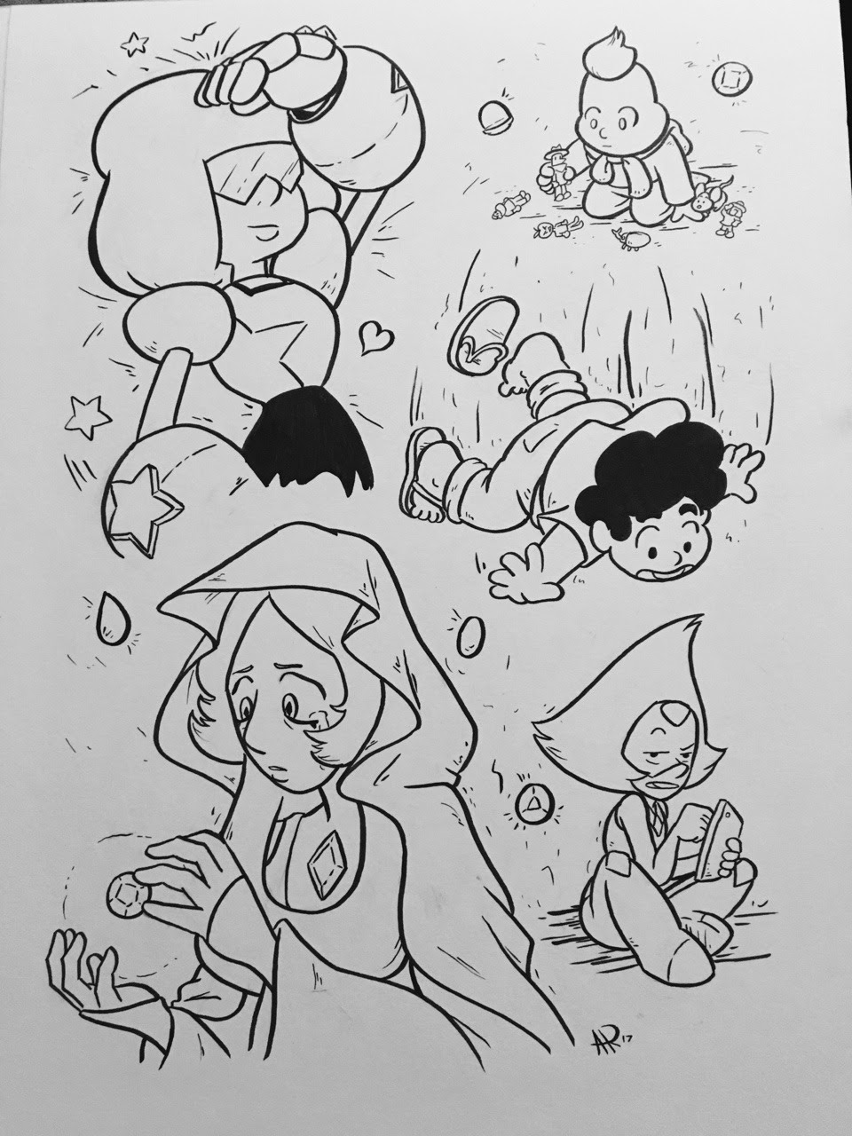 STEVEN SKETCH BOMB! 5 pages of Steven Universe sketches in 5 days