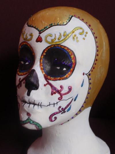 day of the dead skull. a Day of The Dead skull.