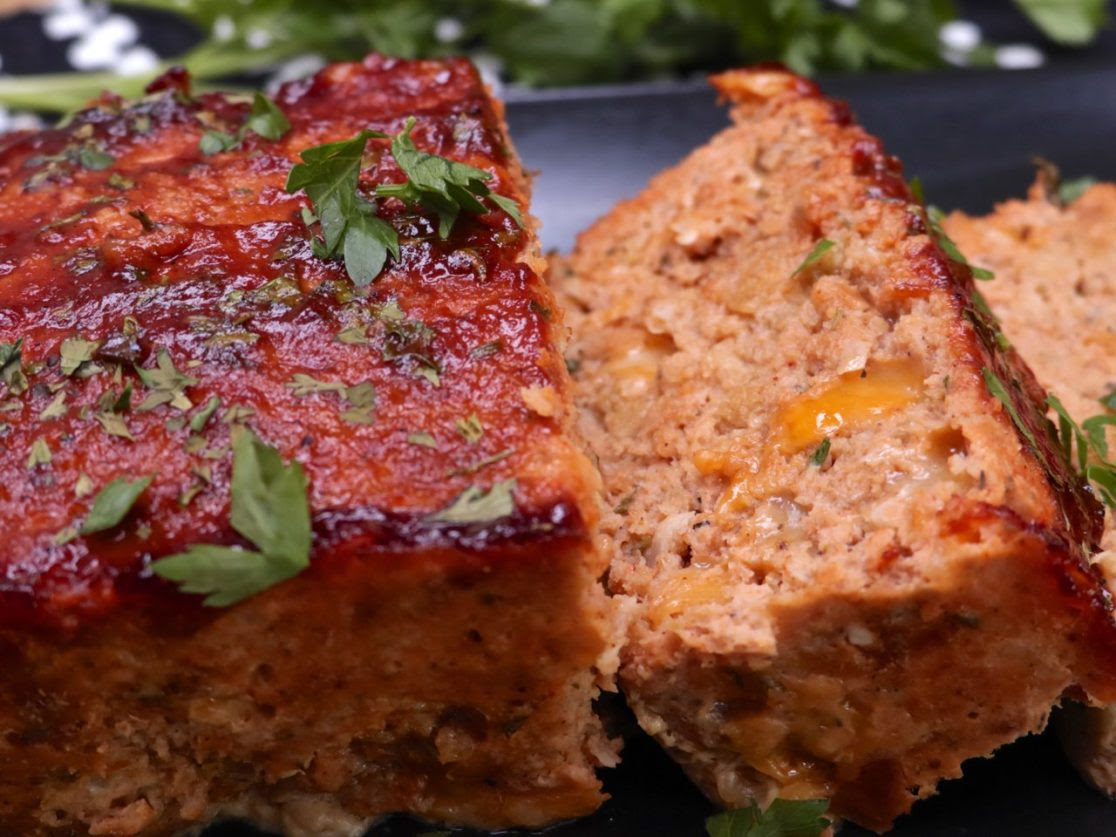 Cheesy BBQ Turkey Meatloaf | Divas Can Cook