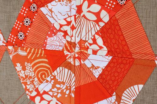 Tangerine Slices Mini Quilt by jenib320