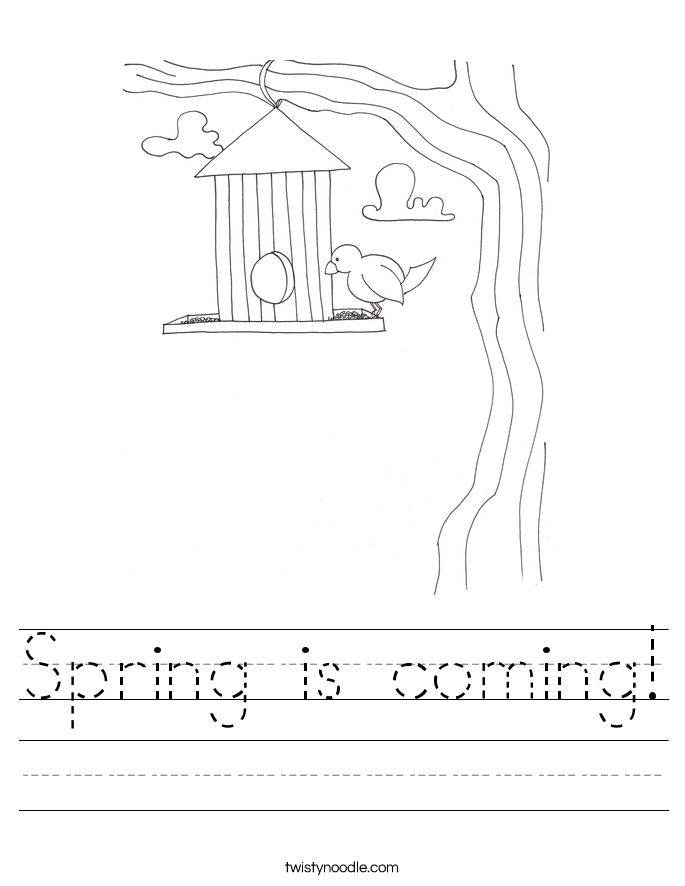 Spring is coming Worksheet - Twisty Noodle