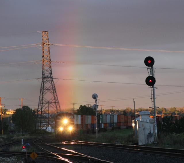 CP 9804 and rainbow, Keith, AB