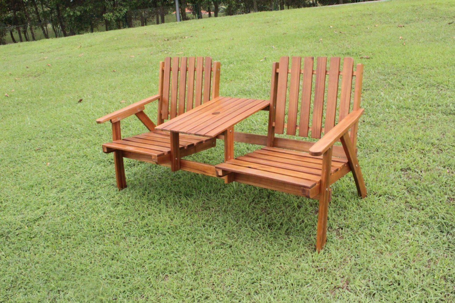 Tete a Tete 2 Seater Love Seat - Simply Wood