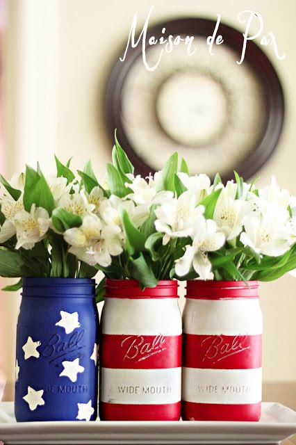 american flag mason jars // a cute fourth of july diy