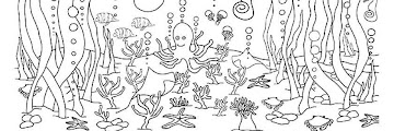 Underwater Coloring Book Pages