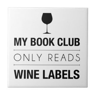 Book Club Reads Wine Labels Bag Tiles